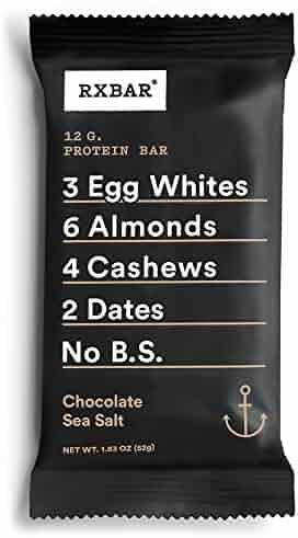 RXBAR Whole Food Protein Bar, Chocolate Sea Salt, 1.83 Ounce (Pack of 12)