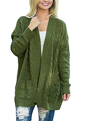 Size Twist tricot Plus Cardigan Femmes Ouvert Manteau Guiran Manches Long Chunky Batwing Avant tXxB7aq
