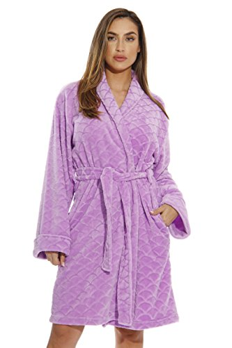 (Just Love Kimono Robe Bath Robes for Women 6311-Lilac-3X)