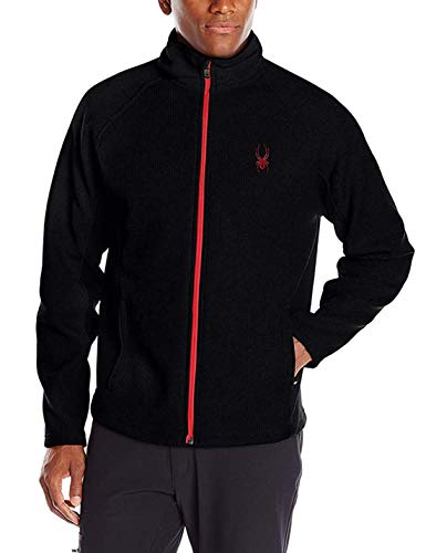 - Spyder Men's M Constant Full Zip Mid Weight Stryke Fleece (XL, Blk/Red)