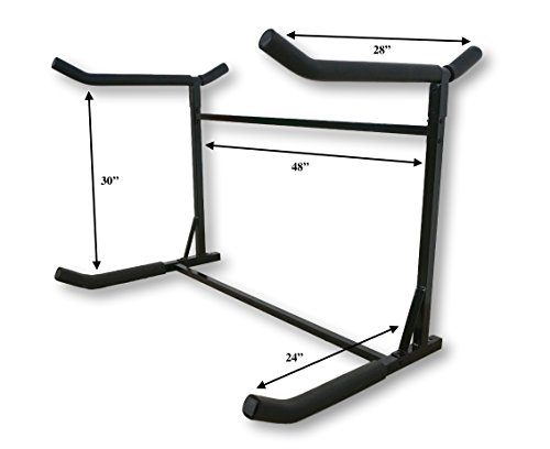 Stoneman Sports Kayak and Canoe Freestanding Storage Rack | Indoor-Outdoor Boat Stand