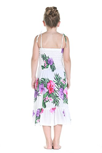 af1e3d9855 Jual Aloha Fashion Girl Elastic Ruffle Hawaiian Luau Dress in White ...