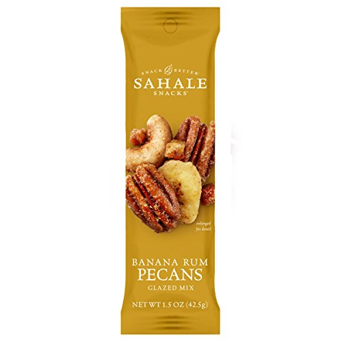 Sahale Snacks Banana Rum Flavored Pecans, 1.5 oz., Pack of 18 - Convenient Grab 'n Go Pack, Nut Snacks with No Artificial Flavors, Preservatives or Colors, Gluten-Free ()