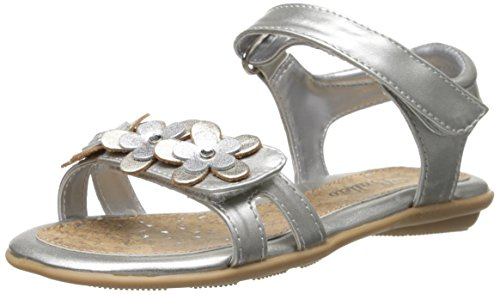 Girl's Jumping Jacks 'Tess' Sandal, Size 4 W - Metallic