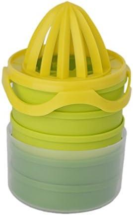 Greatangle 7 unids/Set exprimidor de limón Manual práctico para exprimidor de limón Naranja con Taza medidora y Molde para Hielo Uso doméstico Azul, Verde y Amarillo