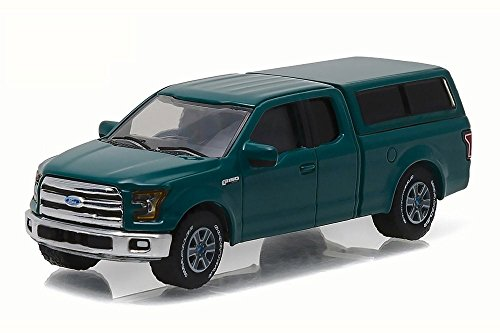 (2015 Ford F-150 with Camper Shell Green Gem