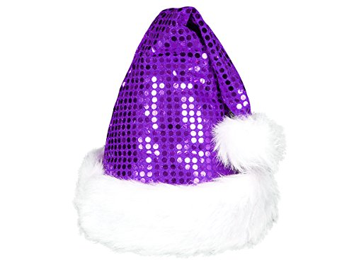 Alsino Cappello Babbo Natale peluche cappellino a taglia unica per adulti di  colore diversi con bordino bianco e pompon 2e426b5225d9