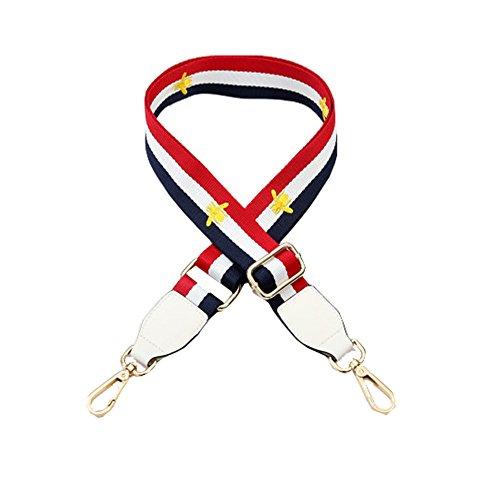 Umily 80cm-130cm Length Shoulder strap Adjustable Shoulder Bag Strap DIY Flower Rivet Handle Crossbody Bag Strap Replacement Type A White