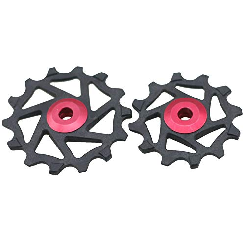 (aXXcssqw9b 12T 14T Ceramic Bearing Derailleur Pulley Wheel for Shimano XTR M9000 M980 M8000 Red)