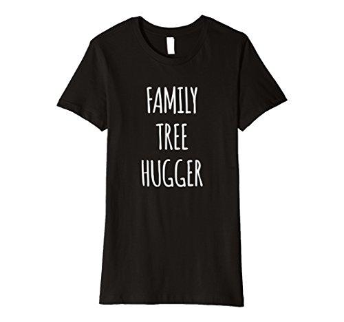T-shirt Hugger Black (Womens Funny genealogy genealogist T SHIRT, Family Tree Hugger XL Black)