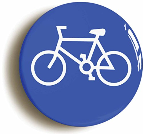 Road Bike Pin (Cyclist Road Sign Cycling Button Pin (Size Is 1inch diameter) Bicycle)