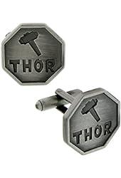 1928 Marvel Men's Thor Octagon Cufflinks (Pewter)