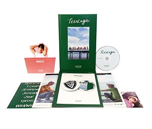 TEEN, AGE [ GREEN Ver. ] - SEVENTEEN 2nd Album CD + Photo Book + Photo Card + Folding Poster(ON PACK) + Lyrics Paper + Name Sticker + Portrait Desktop Stand + FREE GIFT / K-POP Sealed