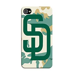 DIY Stylish MLB San Diego Padres Hard Case Cover Fit For iPhone 4/4S
