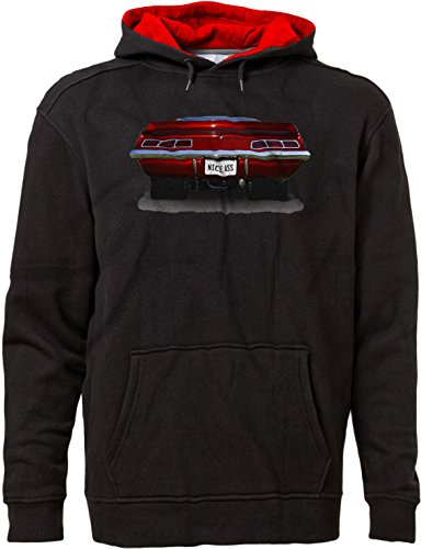 BSW Men's Nice Ass Camaro SS Classic Car Muscle Hot Rod Hoodie SM Blk/Red