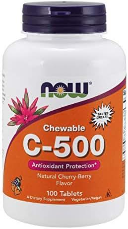 Now Supplements, Vitamin C-500, Cherry, 100 Chewable Lozenges