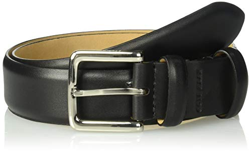 Cole Haan Men's 35mm Hidden Stretch Leather Belt, Black, 38