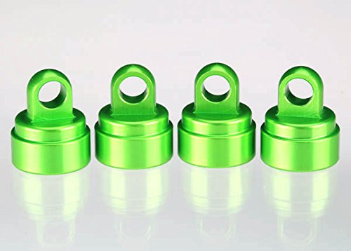 Traxxas 3767G Green-Anodized Aluminum Shock Caps, Fits All Ultra Shocks (set of 4) (Traxxas Parts Green)