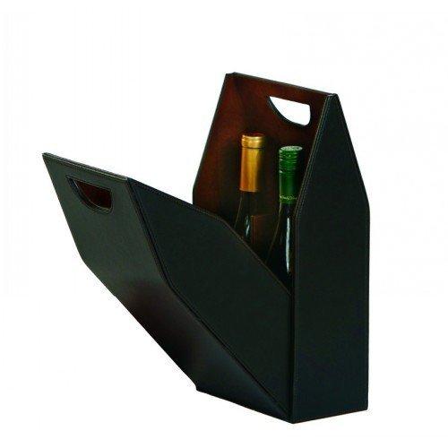 Picnic Plus Vegan Leather Double Bottle Box