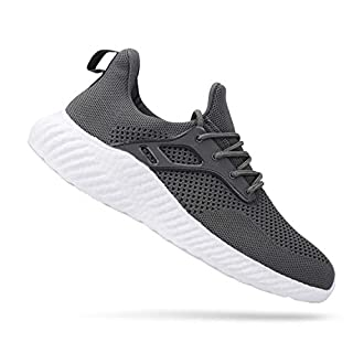 Men's Walking Shoes Fashion Lightweight Breathable Sneakers Casual Daily Shoes, Gray 6