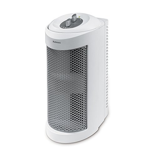 Learn More About Holmes True HEPA Allergen Remover Mini Tower Air Purifier for Small Spaces, White