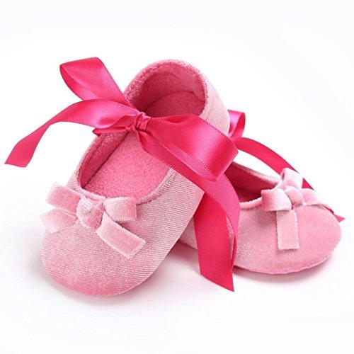 BZLine® Baby Komfort Blume weiche Prewalker weiche Sohle Anti-Rutsch Schuhe Pink