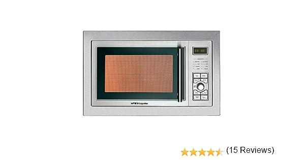 Orbegozo MIG-2325 integrable full INOX, 23 litros de capacidad, 8 niveles, 9 menús de cocción automática, display digital, potencia 900 W microondas y 1000 W grill, Acero Inoxidable: 128.32: Amazon.es: Hogar