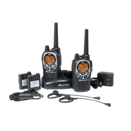 Midland GXT1000VP4 36-Mile 50-Channel FRS/GMRS Two-Way Radio (Pair) (Black/Silver), Outdoor Stuffs
