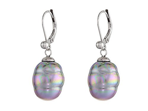 - Majorica Women's 12mm Baroque Pearl Drop Earrings Gray One Size