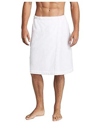 """Men's Long 32"""" Terry Bath Shower Wrap 100% Cotton - Maroon"""