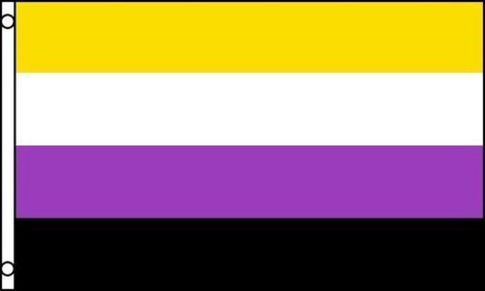 Non-Binary Flag 3x5 ft NB Pride Banner Sign Gender Identity