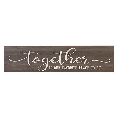 LifeSong Milestones Together is Our Favorite Place to Be, Decorative Wall Art Decor Sign for Living Room, Entryway, Kitchen, Bedroom,Office, Wedding Idea (Salt Oak)