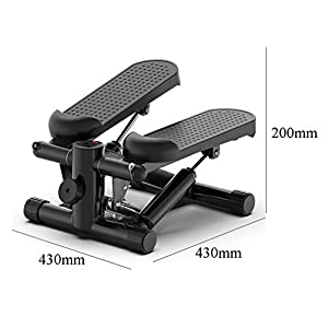 Aprilhp Stepper, Stair Stepper, Exercise Machine, Indoor Workout Equipment with LCD Monitor and Resistance Bands, Adjustable Sport Mode, Load Bearing: 130KG(Black)