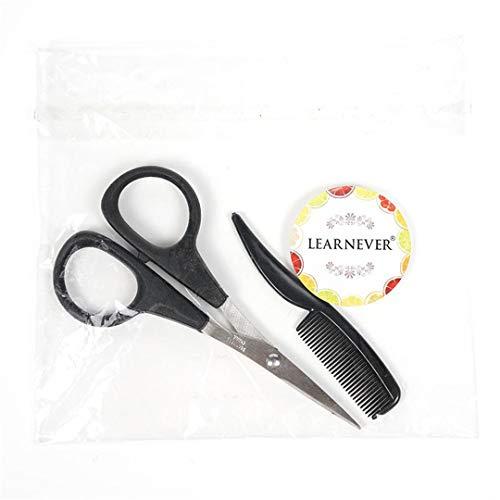 1 Set Stainless Steel Beard Scissor For Shaving Shear Beard Trimmer Eyebrow Men Mustache Scissor Set With A Comb Portable Makeup as shown