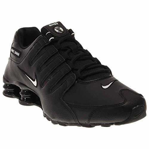 Nike Men's Shox NZ Running Shoe Black/White/Black - 10.5 D(M) (Nike Shox Running Shoes)