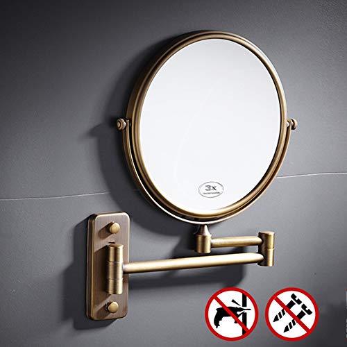 GXM.BK Bathroom Mirror Beauty Mirror 360° Free Rotation for Bathroom and Bedroom Round