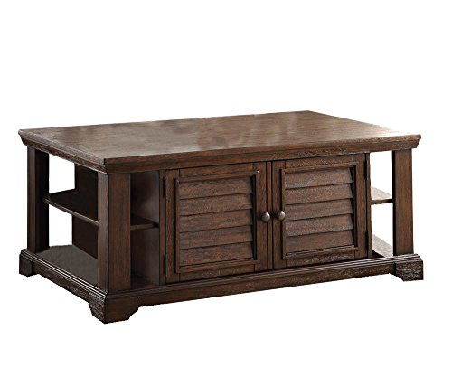 ACME Evrard Dark Oak Coffee Table (Dark Oak Coffee Tables)