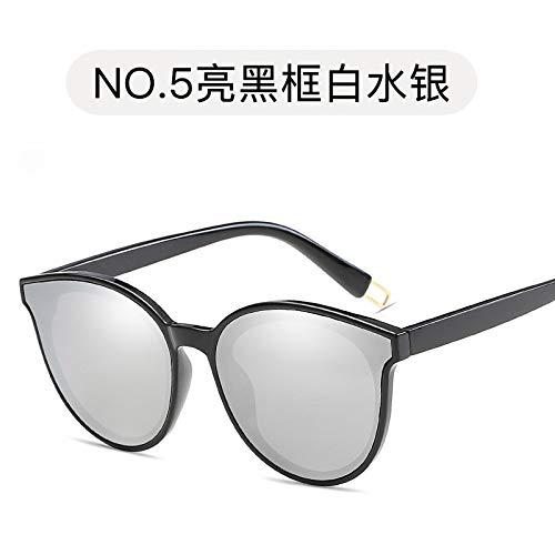 Sol Gafas Gafas Las Sol Gafas Las Moda de Burenqiq Bright de Sol de Las de Sol de Gafas los Las de black de Gafas de de Hombres mercury Sol white de de y frame R6RFqx1