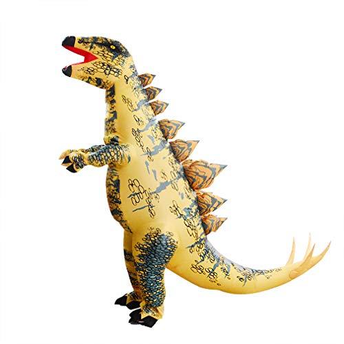 SIREN SUE Halloween Dinosaur Inflatable Costume Stegosaurus Funny Costume Yellow ()