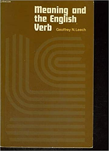 Amazon com: Meaning and the English Verb (9780582522145