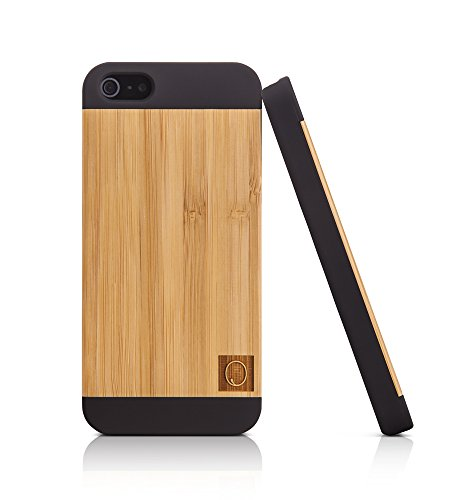 Arktis iPhone SE Luxus Design Hülle mit Echtholz Bambus Rückseite