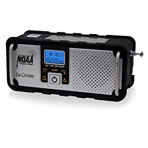 41jthdtYQpL. SS300  - La Crosse Technology 810-106 NOAA/AM/FM Severe Weather Alert Radio with Solar