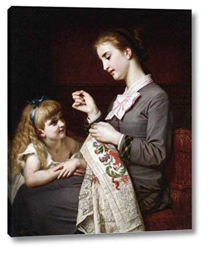 The Embroidery Lesson by Hughes Merle - 18