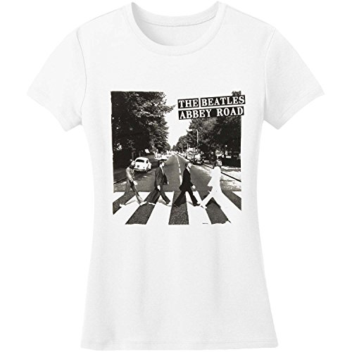 Bravado Girls T-shirt (Beatles Abbey Road Girls Jr Small)