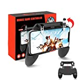 Control Gamepad para Celular Juegos Control Joystick Gamepad Videojuegos Diseño Ergonómico Grip para Celular Android /Apple [4.5'- 6.5'] Phone XS/ XS Max/XR /X 8 /8 Plus /7 /7 Plus Con Soporte Ideal para PUBG y FORNITE (negro)