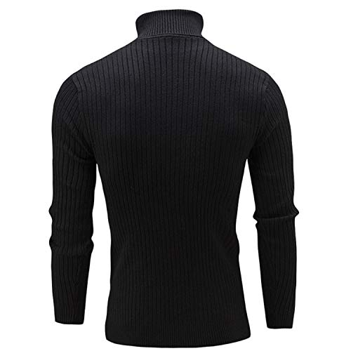 This is not a harm. Autumn Winter High Neck Sweater Men's New Casual Solid Color Plus Size Men's -