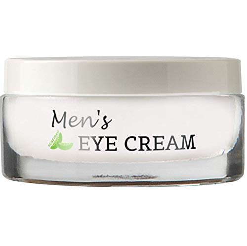 Natural Eye Cream for Men - Best Mens Treatment for Puffiness - Dark Circles and Wrinkles with Calendula and Sesame - Anti Aging Benefits and USA Made (Best Wrinkle Treatment For Men)