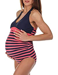 Women s Stripe Maternity Swimsuit cb9da22755