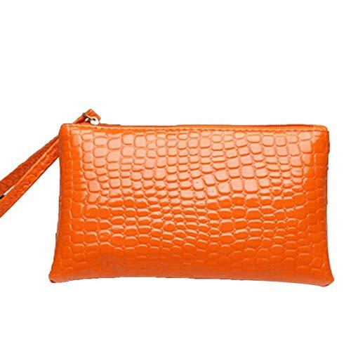 Casual Long Purse Trendy Universal Women Wallet Card Holder Female Purse 301 NC (Color - orange)