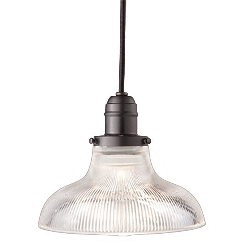 Vintage Collection 1-Light Pendant - Old Bronze Finish with Clear Glass Shade